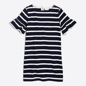 Crewcuts dark navy & white striped dress